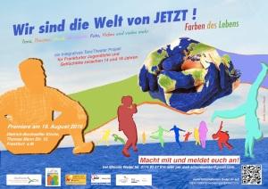 Flyer Wir sind die Welt von Jetzt Jugend projekt von ueberbruecken 2017