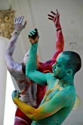2013 Bodypainting Performance Salvador da Bahia Rodin Museum Konzept Frank Haendeler