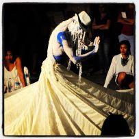 2013 Performance zum Thema sakrale Riten der afro-brasilianischen Religion Candomble Choreografie und Performance Frank Haendeler Photo von CHristopher Rybiky