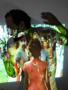 2013 Bodypainting Performance Rodin Museum Salvador Bahia Brasilien