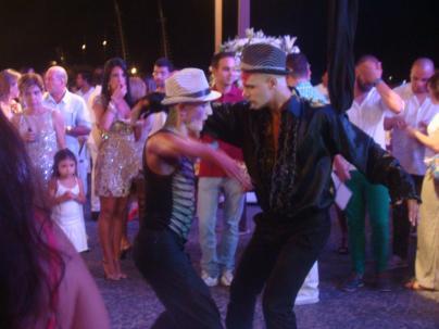 2010 Sylvester Performance Tango Impro von und mit FH und Lucas Tanajura Salvador BR