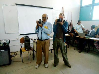 2011 Dozenten der Universitaet UEFS Brasilien Dozenten Balmukund Niljay Patel und Frank Haendeler Graduierten Programm in Kunst