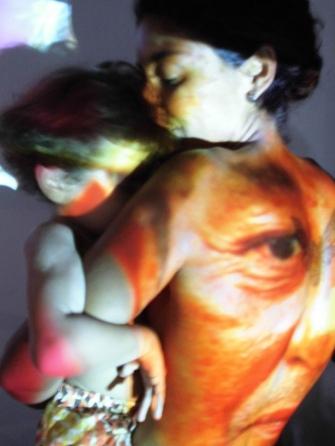 2013 Bodypainting Performance Out Door Rodin Museum Salvador BR Konzept Frank Haendeler und Lucas Tanajura