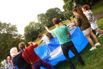 2016 Abenteuer Sommerferien blaues Kleid - S Wedel