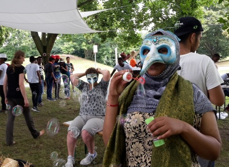 2016 Abenteuer Sommerferien - Maske blau - Y Gabers