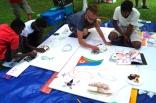 Malworkshop mit Nicklas Fiedler - Projekt Abenteuer Sommerferien - Feder im Wind 2016
