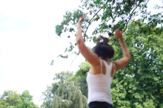 2016 Abenteuer Sommerferien Workshop 4 modern afro dance class Stephanie Bangoura- F Haendeler - ÜberBrücken Frankfurt