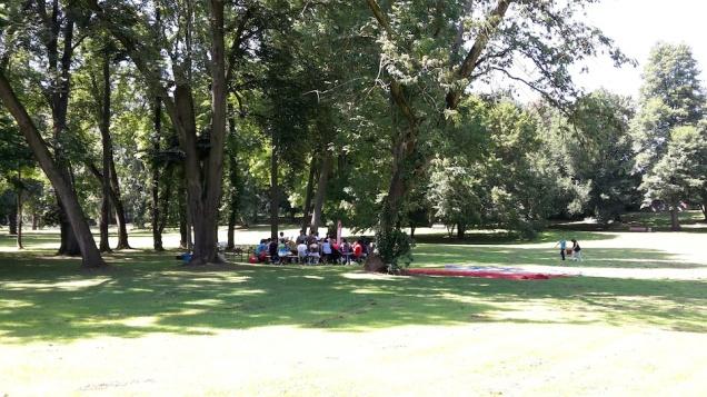 Abenteuer Sommerferien Workshop 4 Hoechst Stadtpark GruppeII - S Wedel - ÜberBrücken Frankfurt