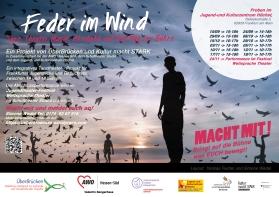 """Flyer """"Feder im Wind - Ein Neubeginn"""""""